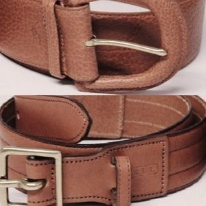 New Vachetta Leather Status Belt Lot of 2